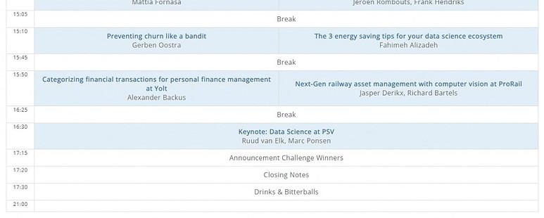 PyData Eindhoven Talks Schedule